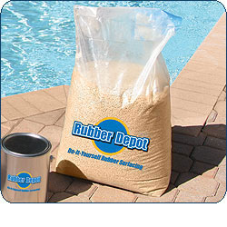 Bag of EPDM Granulate