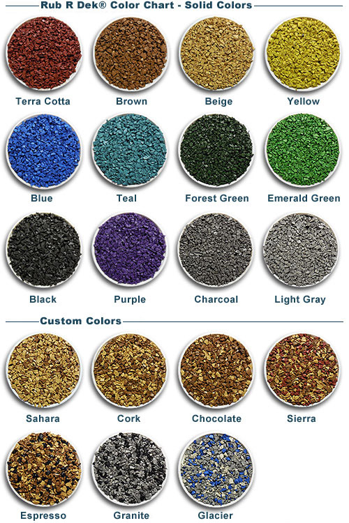 Rubber depot do it yourself rubber surfacing color samples rub r dek color chart solutioingenieria Choice Image